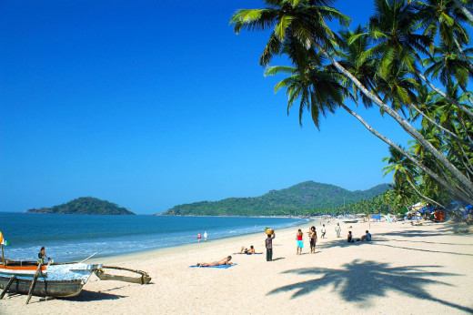 The Palolem Beach In Goa.