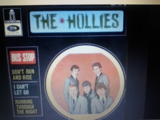 A picture sleeve For A Hollies French Release On The Odeon Label