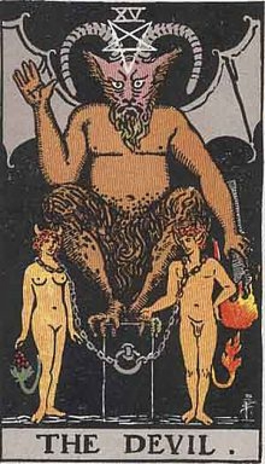 "The most common Tarot card for the ""Devil."""