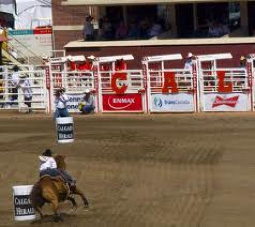 Calgary Stampede Barrel Ride