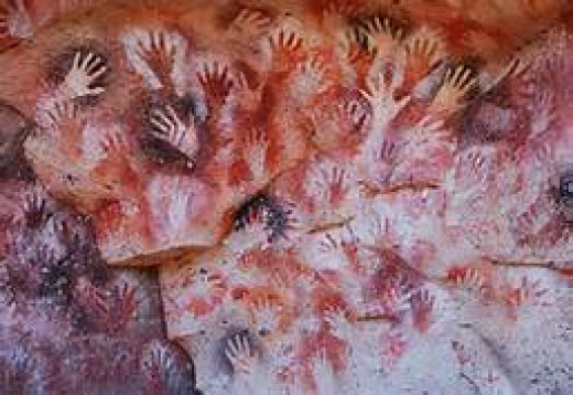 """A riot of hands..."" House of Hands Cave"