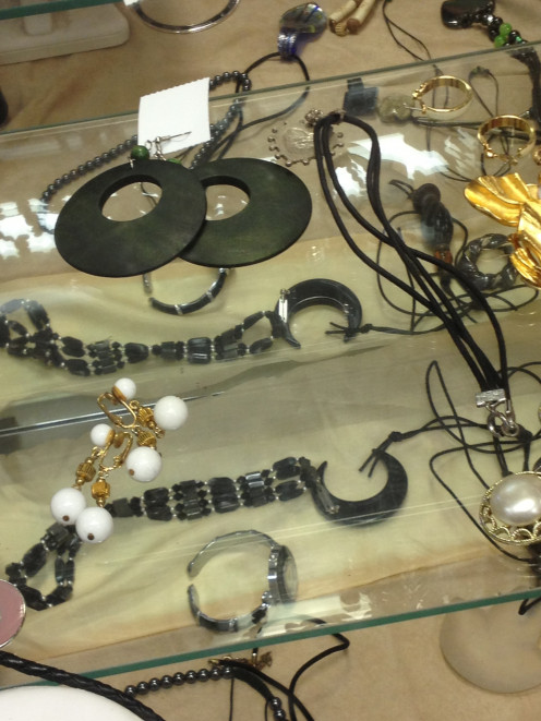 A woman can never have enough accessories.  Consignment shops have lots of interesting bargains this time of year.