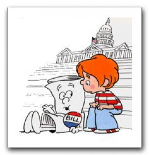 Children do not play with the friendly looking bills that ALEC dumps here on the steps of the Capitol building.
