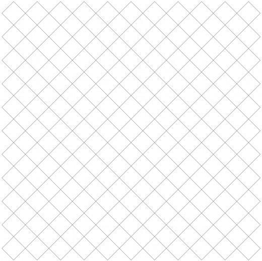 Basic diagonal grid