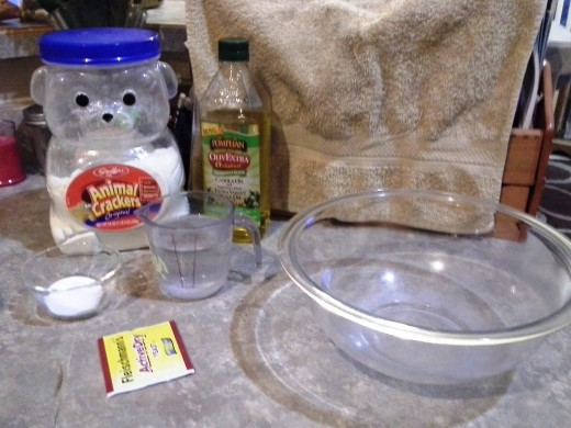 Ingredients for the Pizza Crust