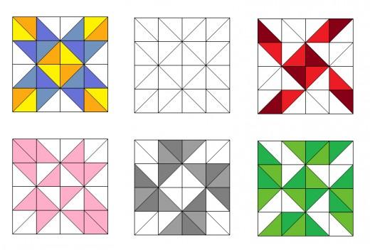 Pinwheel quilting blocks