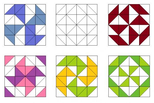 Pinwheels and arrow quilting blocks
