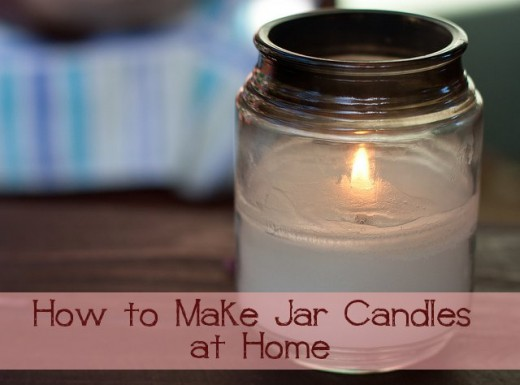 Home made jar candles make amazing gifts.