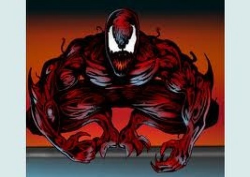 Carnage is a brutal maniac who offed some of his own family and he has a special bond with Venom.