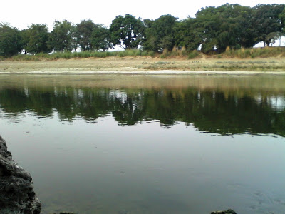 Beautiful Gomati River Pics captured by me from my own Nokia Asha Mobile