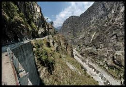 The Sutlej Gorge at Tranda