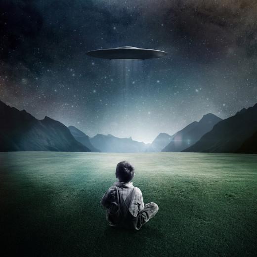 Boy and UFO