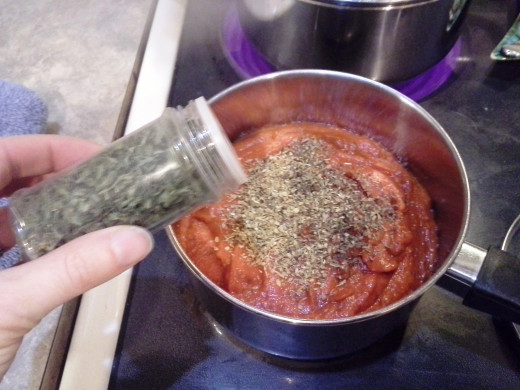 Step Ten: Finally, add in your parsley