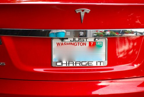 """Just Charge It"" Electric Roadster Tesla Model S"