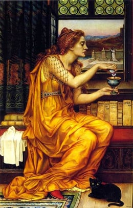 """The Love Potion"" by Evelyn De Morgan (1903)"
