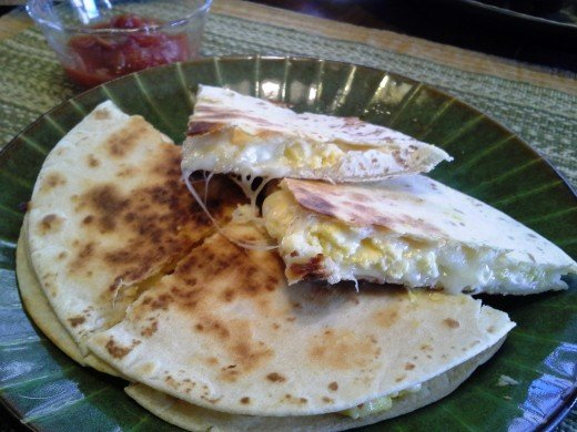 Easy Peasy Egg and Cheese Breakfast Quesadilla