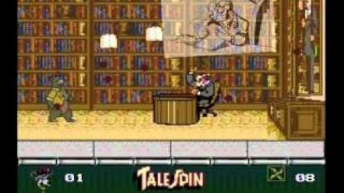 Talespin is a video game that was based on the cartoon of the same name. The game shows lots of cut scenes from the cartoon and many goofy enemies to battle against.