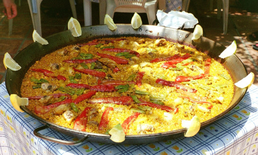 Paella, a common Spanish lunch.