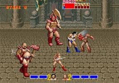 Golden Axe was a major hit for the Genesis and so were the sequels. You can choose between a man, woman or an axe wielding dwarf. Originally, Sega produced the game for Arcades.