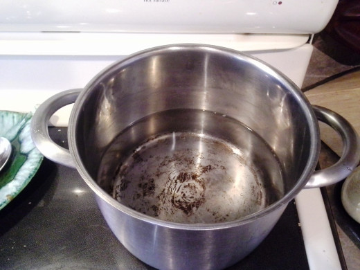 Step One: Fill a small soup pot halfway with water and set it on the stove