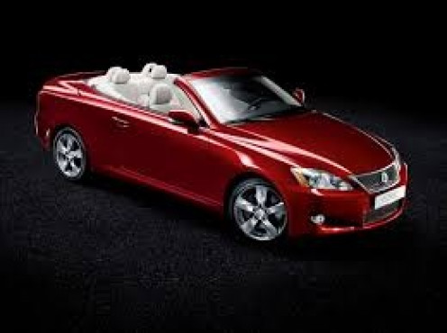 The Lexus convertible is beautiful and it's a great way to feel the breeze. It costs too much in my opinion but it's loaded from top to bottom with all the extras.