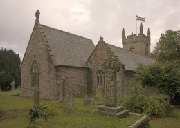 A photo of Mawnan Church, the very place of the majority of The Owlman sightings.
