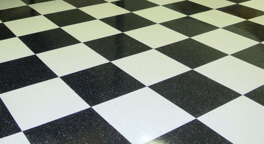 Vinyl composite garage floor tile
