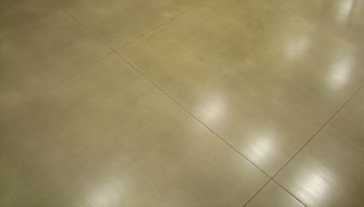 Acrylic concrete floor sealer in a matte finish