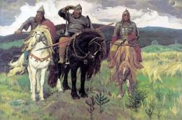 """Three Heroes"" by Victor Vasnetsov (Tri Bogatyria, 1898)."