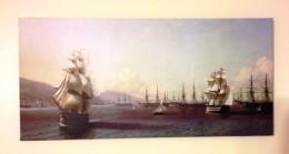 "Ivan Aivazovsky , ""Black Sea Fleet At Feodosia Shores""."