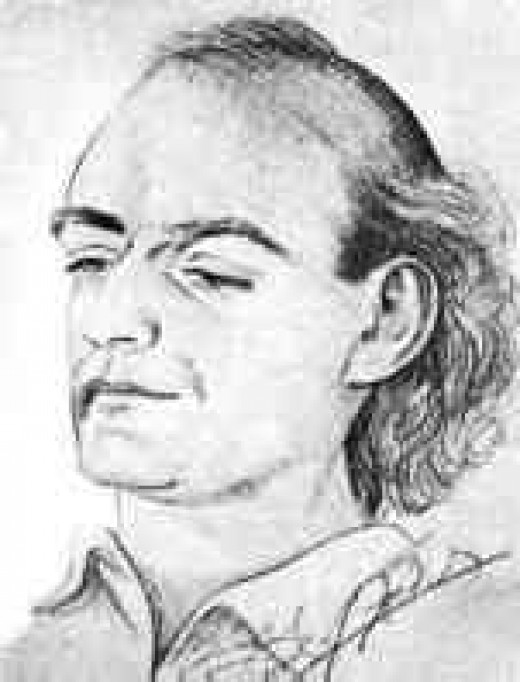 Portrait Sketch of Edmond Bordeaux Szekely (1905-1979)