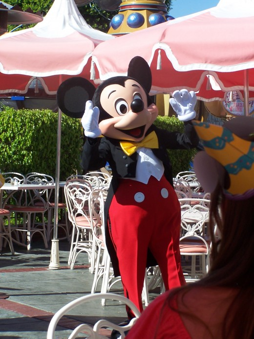Mickey Mouse celebrates birthdays at the Plaza Inn