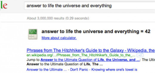Google gives the answer to life and universe