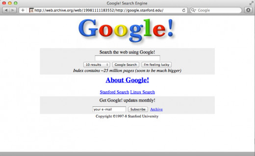 Google Back in 1998