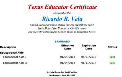 Interim Superintendent has no qualification in education. Former board member Lisa Salazar held same certificates.
