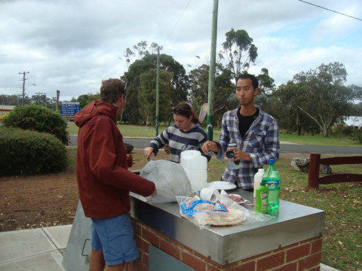 Certain places like public parks in Australia offer BBQ grills for anyone's use.