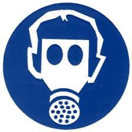 PPE Sign for Dust/Gas Mask