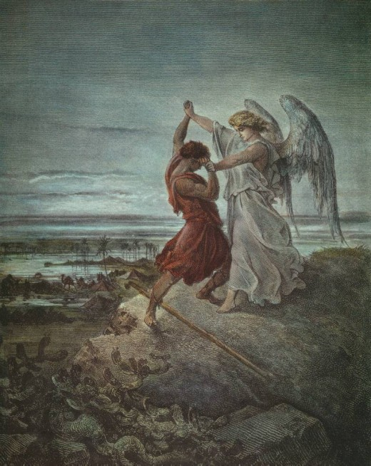 Jacob wrestling with the angel (1855)