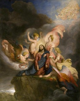 The Angels Ministering to Christ painted in 1849 by Sir George Hayter