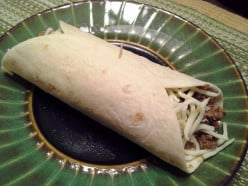Easy Peasy Bean and Beef Burritos