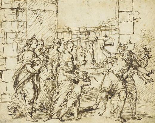 The Lupercalian Festival in Rome by Adam Elzheimer