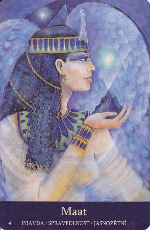 The Egyptian Goddess Ma'at.
