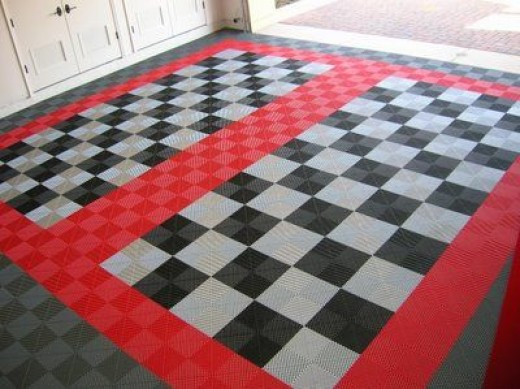 Garage Flooring Options From Mats And Tiles To Paint