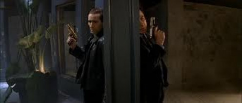 Nick Cage and John Travolta trade lives in Face Off. The film has some of the most intense action sequences that you will ever see on the big screen.