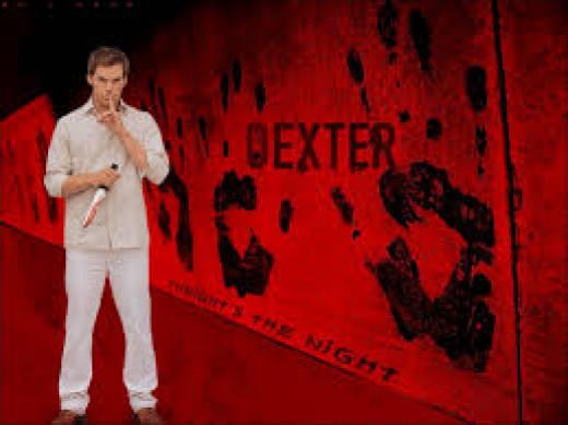 Michael. C. Hall portrays Dexter Morgan, a serial killer and blood splatter analyst