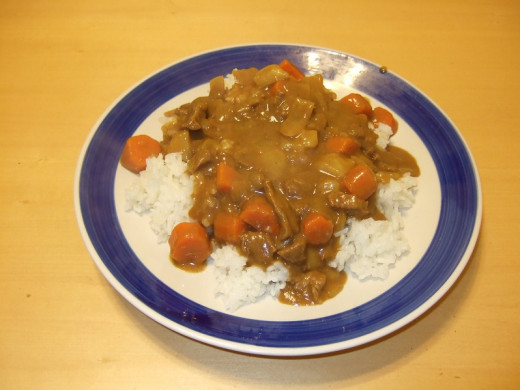 Some curry rice I made.