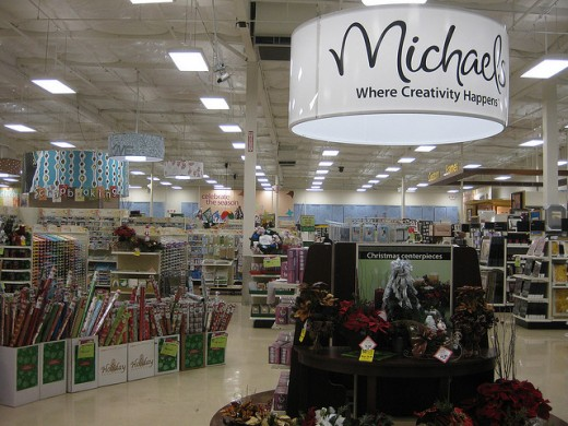 The inside of a Michael's craft store.