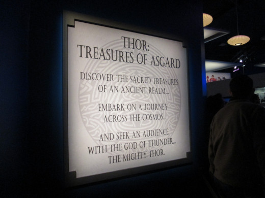 The entrance to the Thor: Treasures of Asgard exhibit.