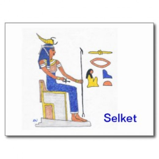 The Egyptian Goddess Selket.