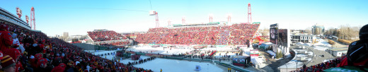 Panoramic view of Calgary's McMahon Stadium